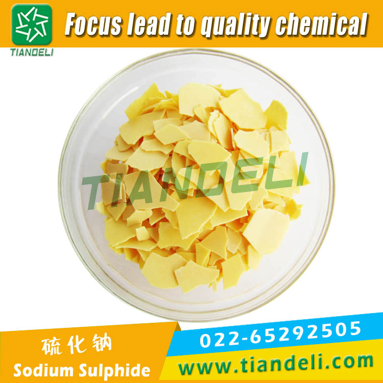Sodium Sulphide 60% Min Yellow Flake Fe:10ppm Max