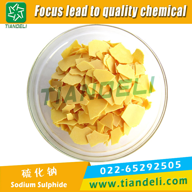 Sodium Sulphide 60% Min Yellow Flake Fe:30ppm Max