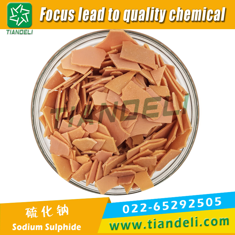 Sodium Sulphide 60% Min Red Flake Fe:80ppm Max